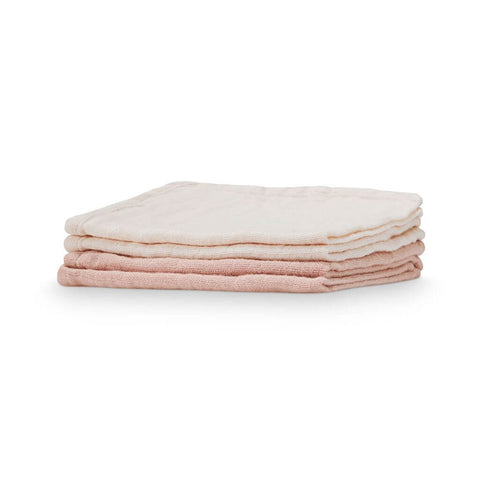 Set of 4 Muslin Wash Cloths in Nude/Blush by Cam Cam Copenhagen - Junior Edition
