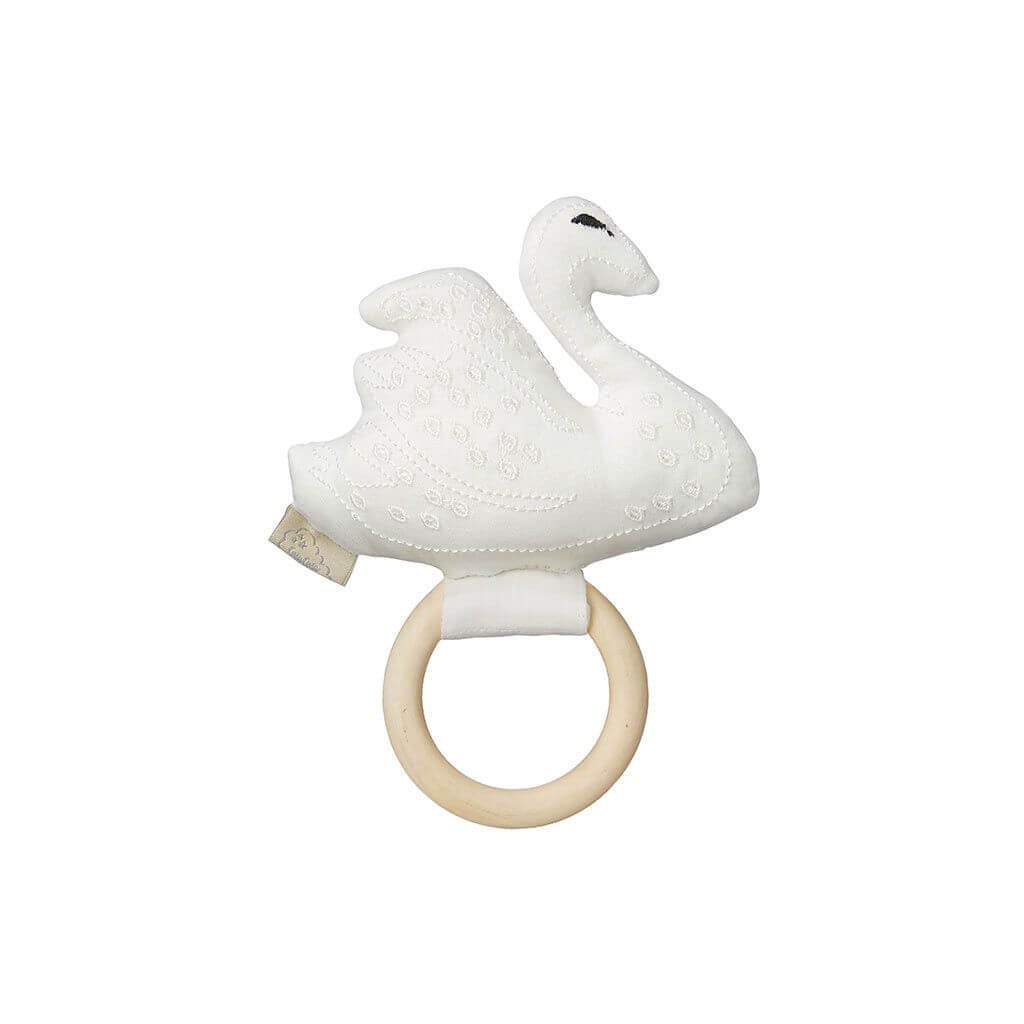 Swan Rattle in Off White by Cam Cam Copenhagen - Junior Edition