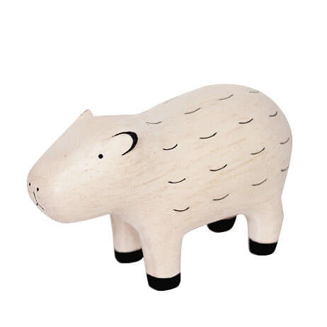 Capybara - Polepole Wooden Animal by T-Lab - Junior Edition