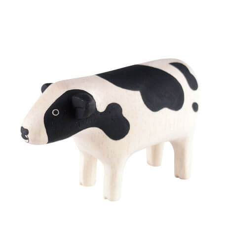 Cow - Polepole Wooden Animal by T-Lab - Junior Edition