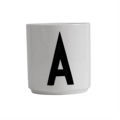 Arne Jacobsen Personal Initial A-Z Porcelain Cup by Design Letters