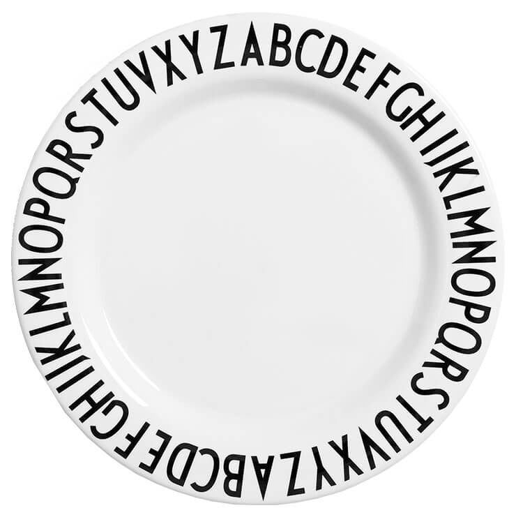 Arne Jacobsen ABC Melamine Plate by Design Letters - Junior Edition  - 1