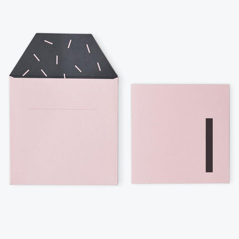 Arne Jacobsen Numbers Birthday Card in Pink by Design Letters