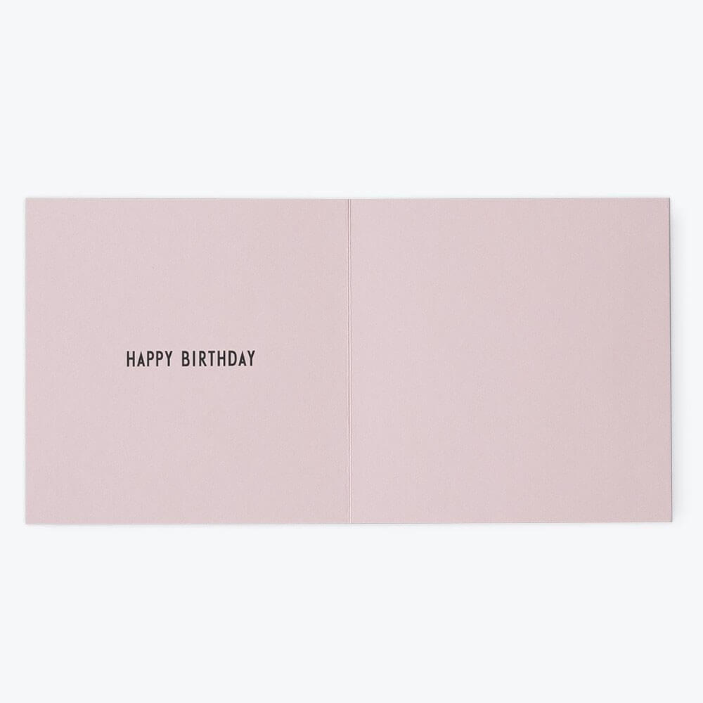 Arne Jacobsen Numbers Birthday Card in Pink by Design Letters - Junior Edition