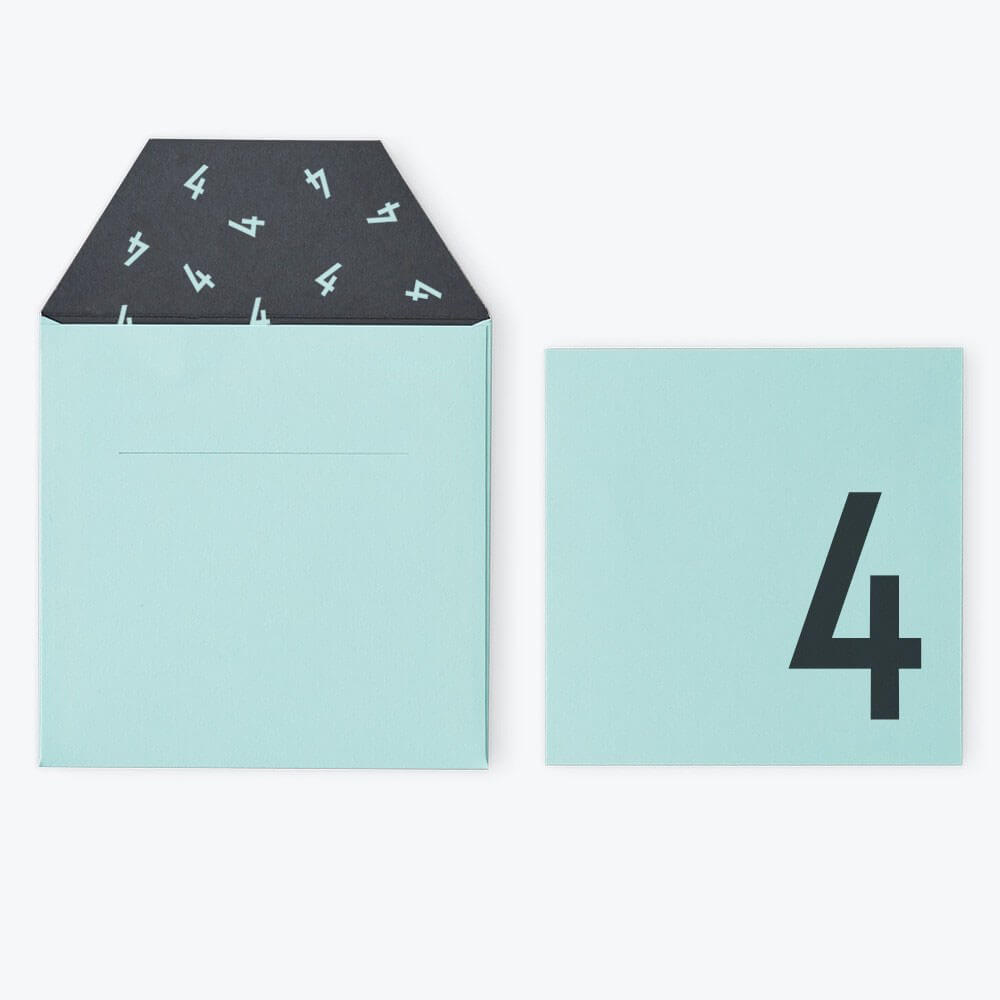 Arne Jacobsen Numbers Birthday Card in Turquoise by Design Letters - Junior Edition