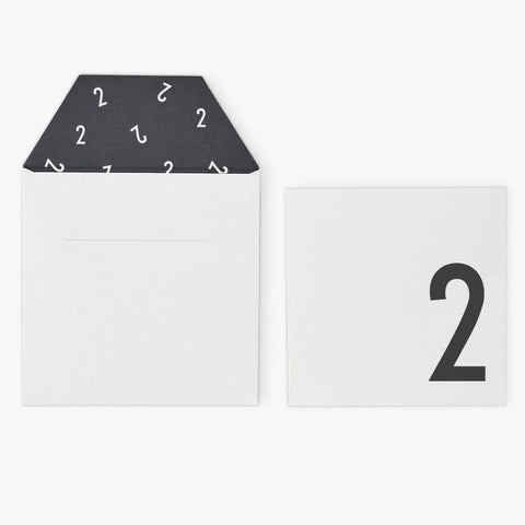 Arne Jacobsen Numbers Birthday Card in White by Design Letters