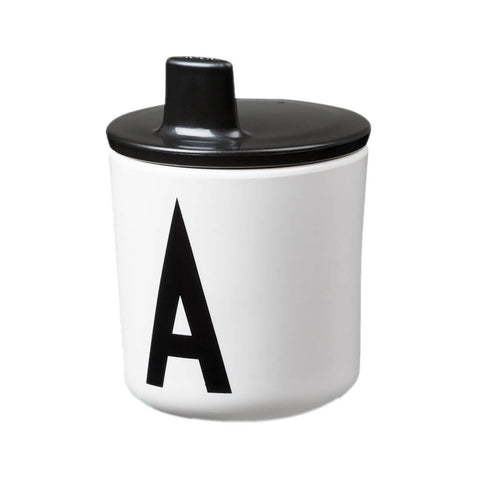 Arne Jacobsen Black Melamine Cup Lid by Design Letters - Junior Edition  - 1