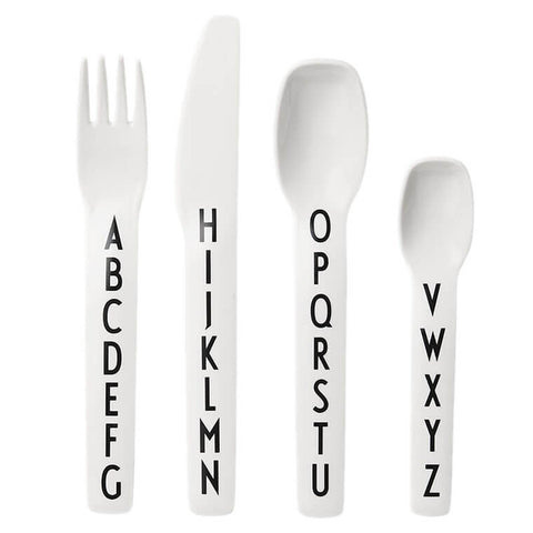 Arne Jacobsen ABC Melamine Cutlery Set by Design Letters - Junior Edition  - 1