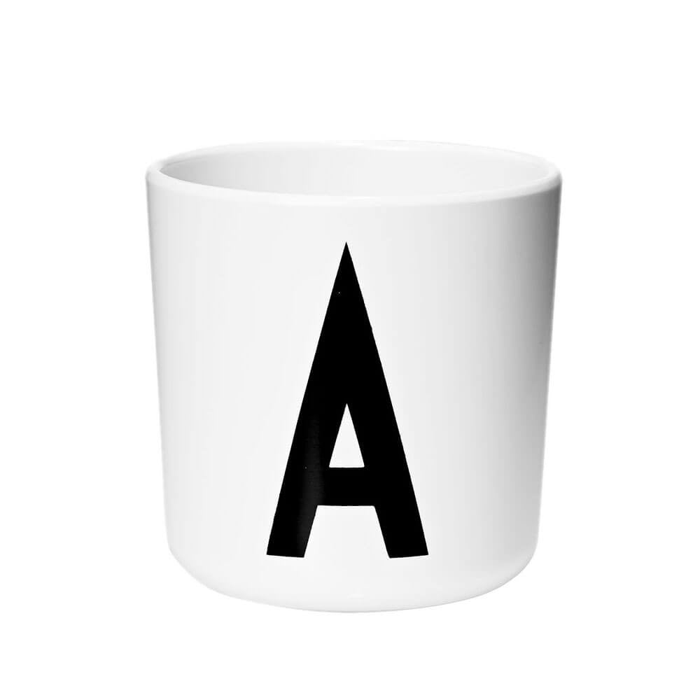 Arne Jacobsen Personal Initial A-Z Melamine Cup by Design Letters - Junior Edition  - 1