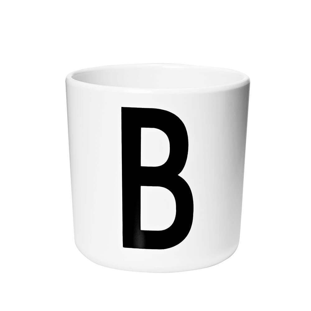 Arne Jacobsen Personal Initial A-Z Melamine Cup by Design Letters - Junior Edition  - 2