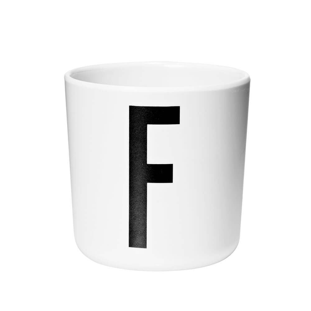 Arne Jacobsen Personal Initial A-Z Melamine Cup by Design Letters - Junior Edition  - 6