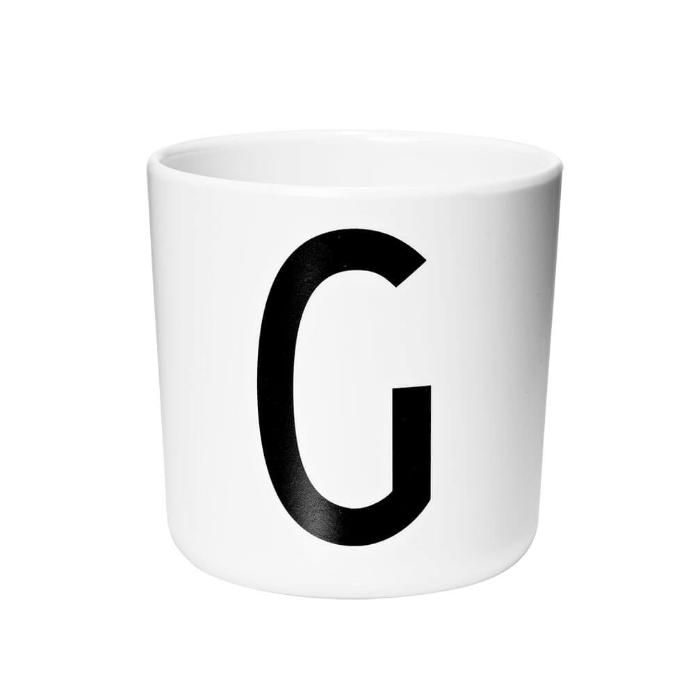 Arne Jacobsen Personal Initial A-Z Melamine Cup by Design Letters - Junior Edition  - 7