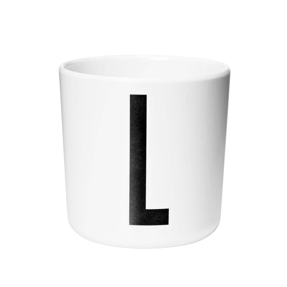 Arne Jacobsen Personal Initial A-Z Melamine Cup by Design Letters - Junior Edition  - 12