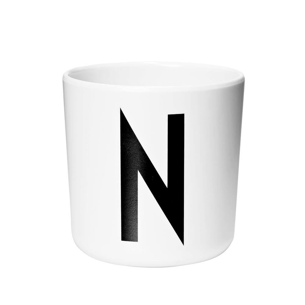 Arne Jacobsen Personal Initial A-Z Melamine Cup by Design Letters - Junior Edition  - 14
