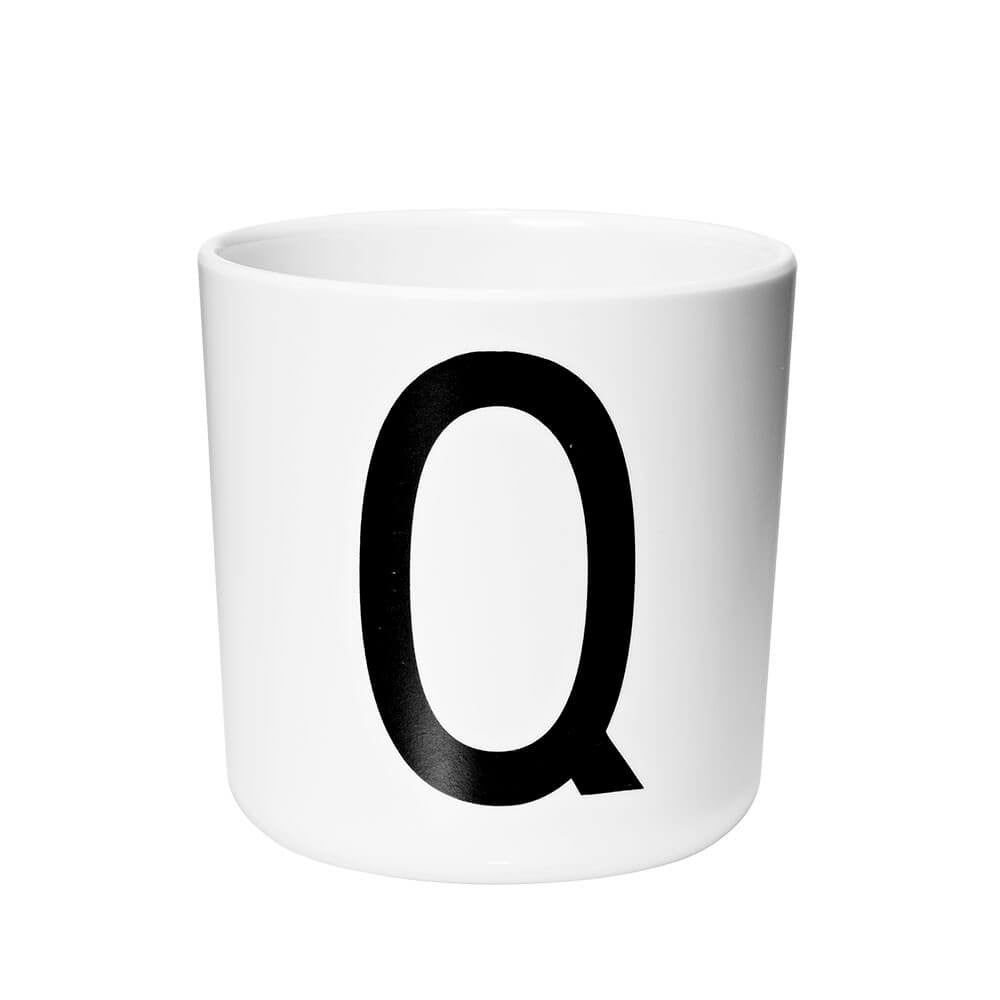 Arne Jacobsen Personal Initial A-Z Melamine Cup by Design Letters - Junior Edition  - 17
