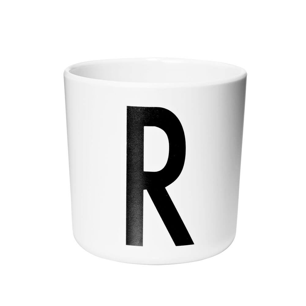 Arne Jacobsen Personal Initial A-Z Melamine Cup by Design Letters - Junior Edition  - 18