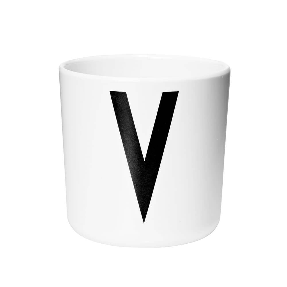 Arne Jacobsen Personal Initial A-Z Melamine Cup by Design Letters - Junior Edition  - 22