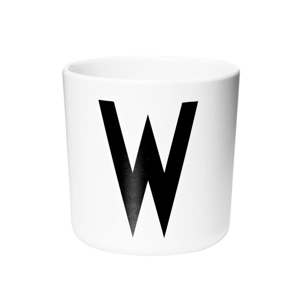 Arne Jacobsen Personal Initial A-Z Melamine Cup by Design Letters - Junior Edition  - 23