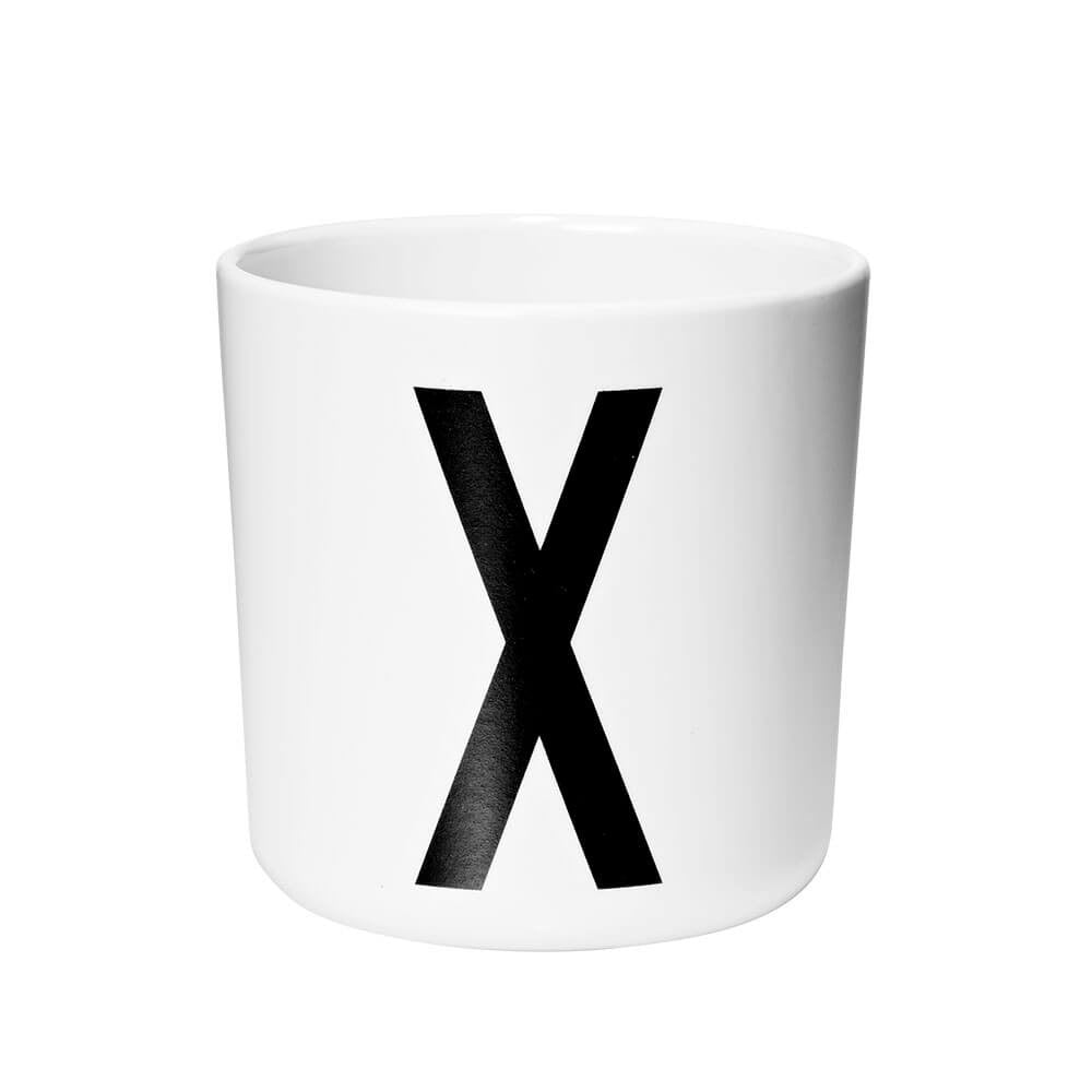 Arne Jacobsen Personal Initial A-Z Melamine Cup by Design Letters - Junior Edition  - 24