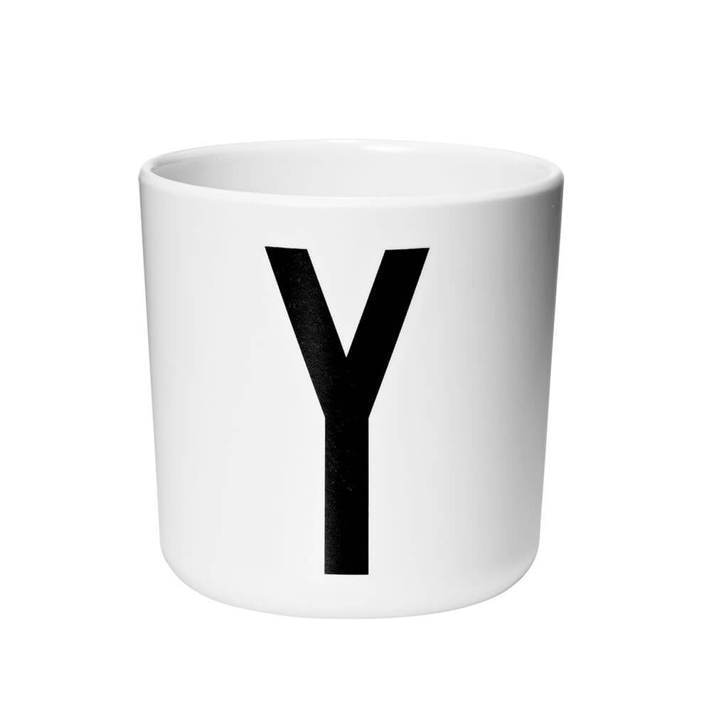 Arne Jacobsen Personal Initial A-Z Melamine Cup by Design Letters - Junior Edition  - 25