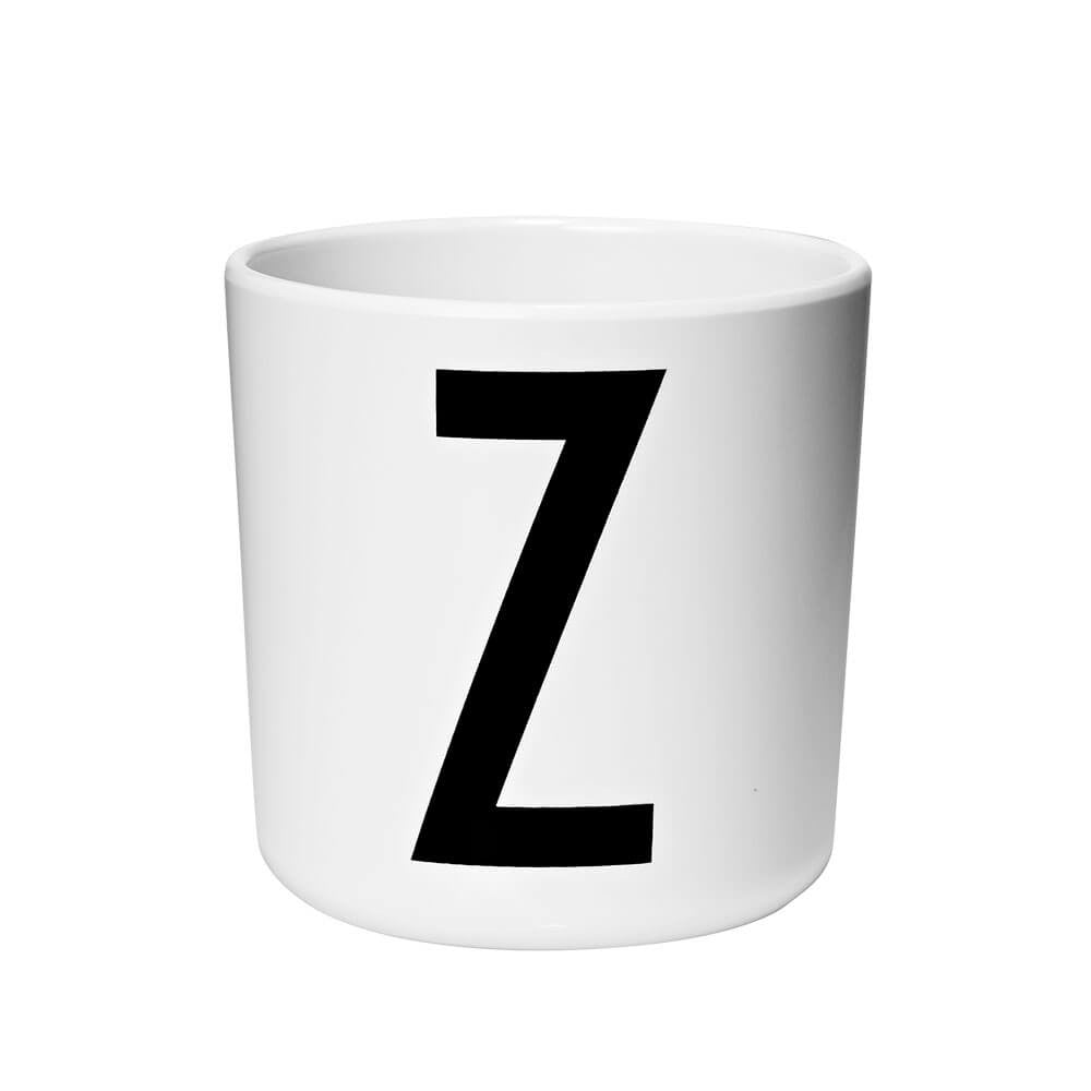 Arne Jacobsen Personal Initial A-Z Melamine Cup by Design Letters - Junior Edition  - 26