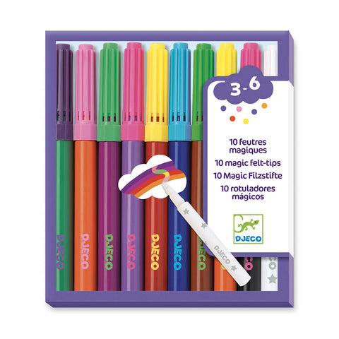 10 Magic Felt Tip Pens by Djeco