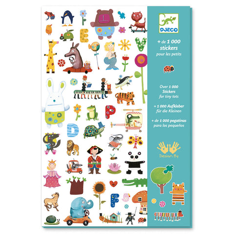 1000 Paper Stickers For Little Ones by Djeco