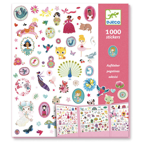 1000 Paper Stickers: Sweet by Djeco