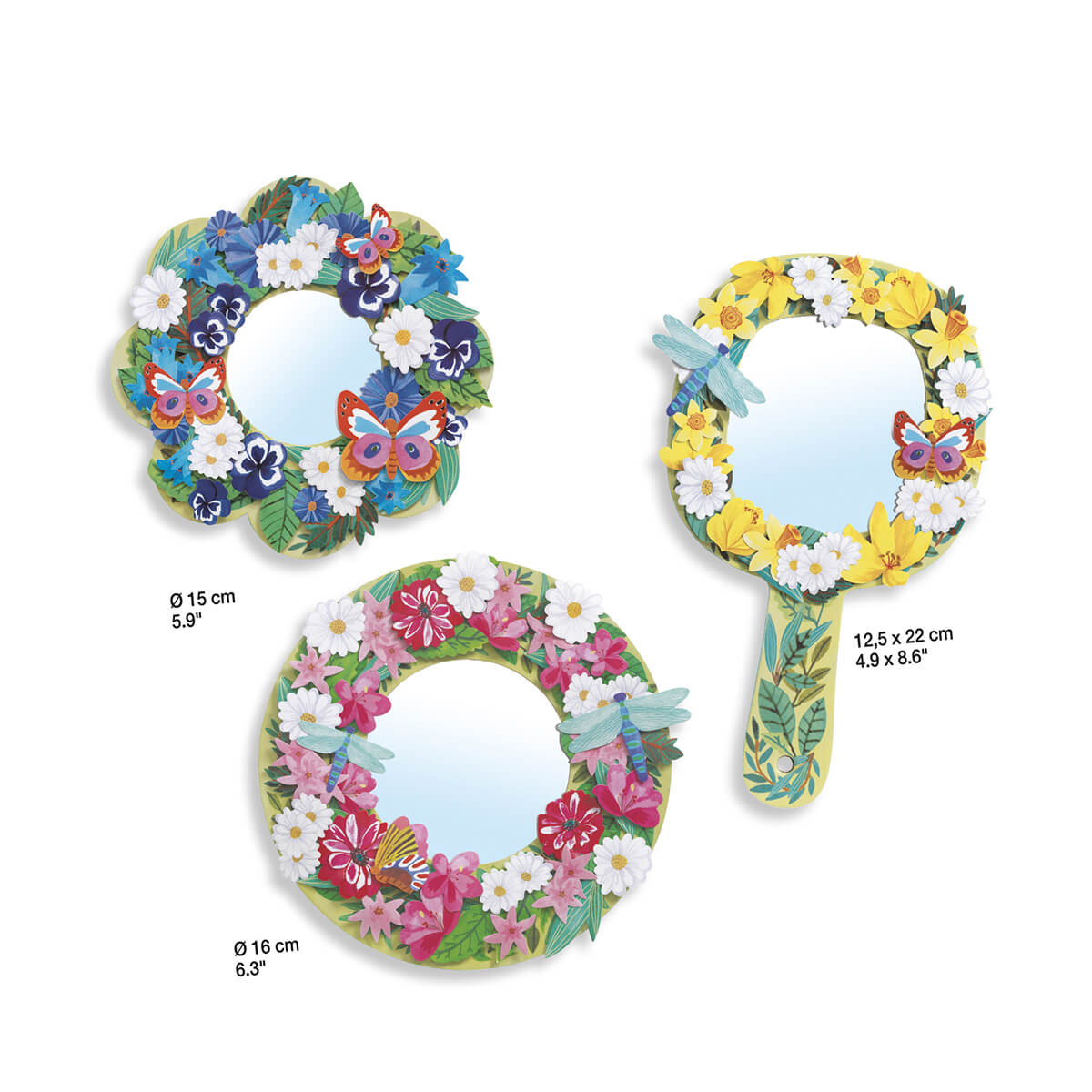 DJ07908 DJECO DIY Mirrors for Decorating Sweet Floral