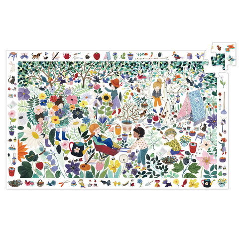 1000 Flowers 100 Piece Observation Jigsaw Puzzle by Djeco