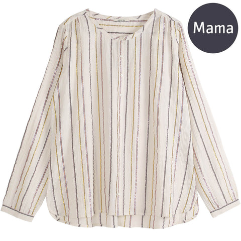Striped Lurex Adult Blouse by Emile Et Ida