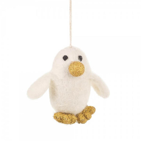 Golden Penguin Tree Decoration by Felt So Good