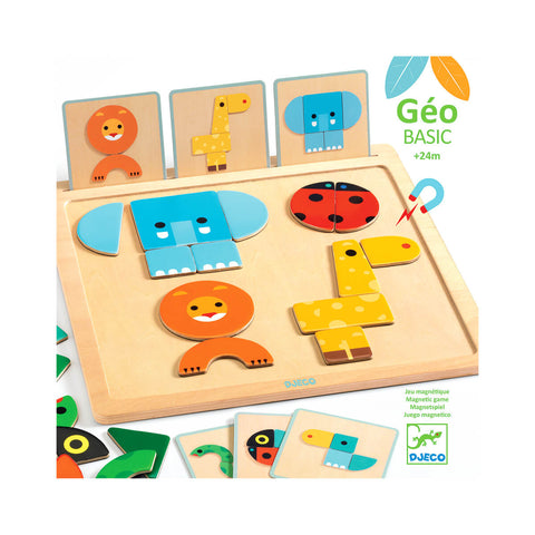 GeoBasic Magnetic Wooden Puzzle by Djeco
