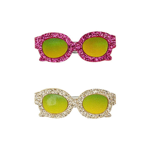 Glittery Glasses Hair Clips by Mimi & Lula