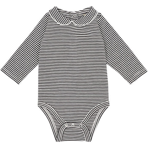 Striped Baby Bodysuit with Collar by Gray Label - Junior Edition