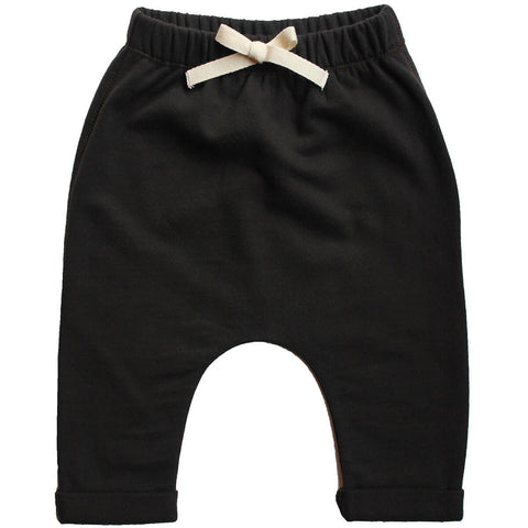 Baby Pants in Nearly Black by Gray Label - Junior Edition