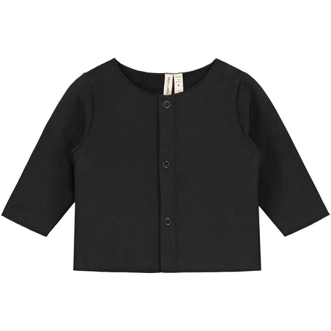 Baby Cardigan in Nearly Black by Gray Label - Junior Edition