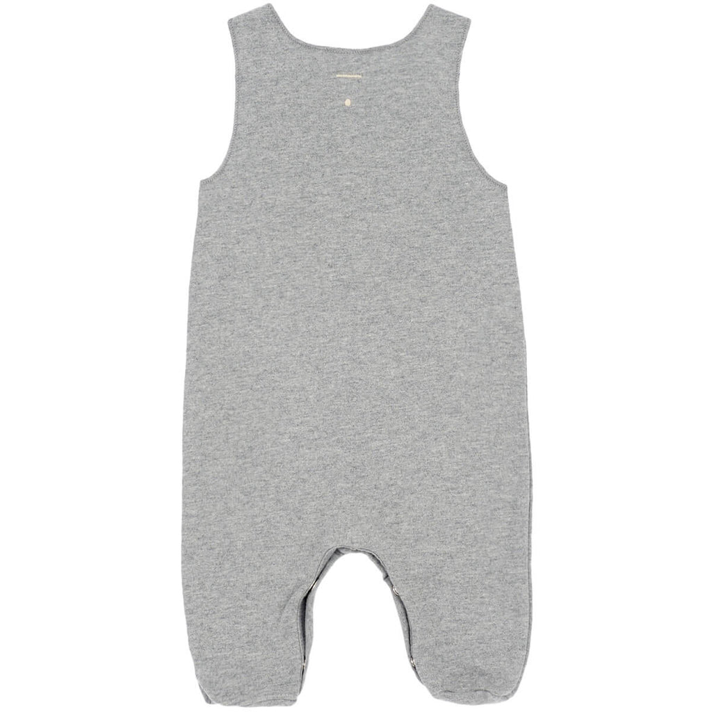 Baby Sleeveless Suit in Grey Melange by Gray Label - Junior Edition