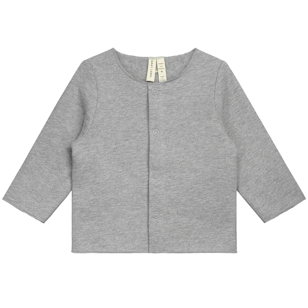 Baby Cardigan in Grey Melange by Gray Label - Junior Edition