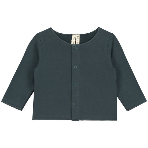 Baby Cardigan in Blue Grey by Gray Label - Junior Edition