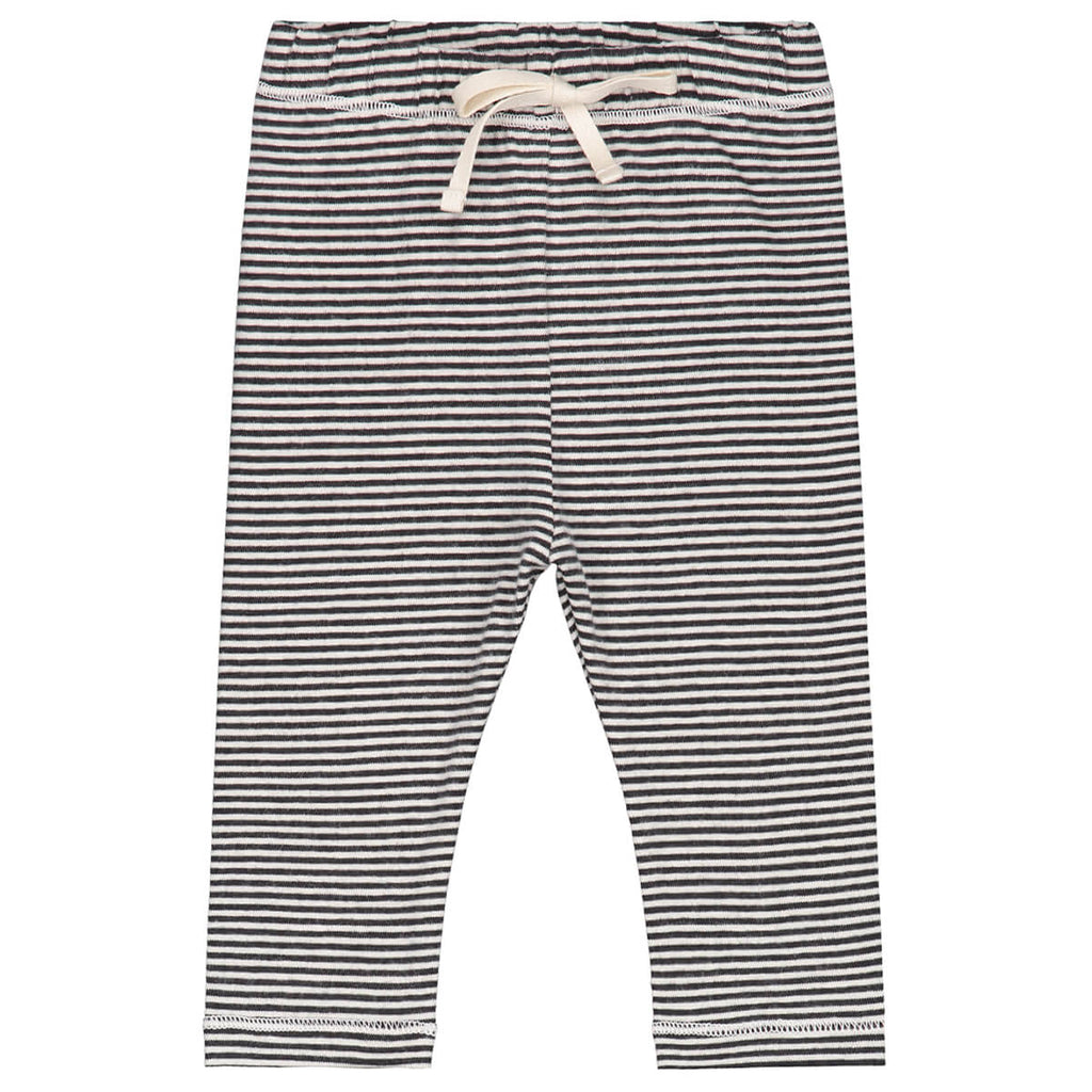 Striped Baby Leggings in Nearly Black by Gray Label - Junior Edition
