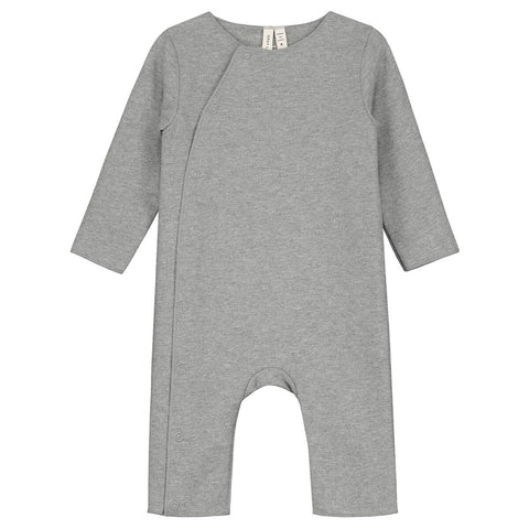 Baby Suit With Snaps in Grey Melange by Gray Label - Junior Edition
