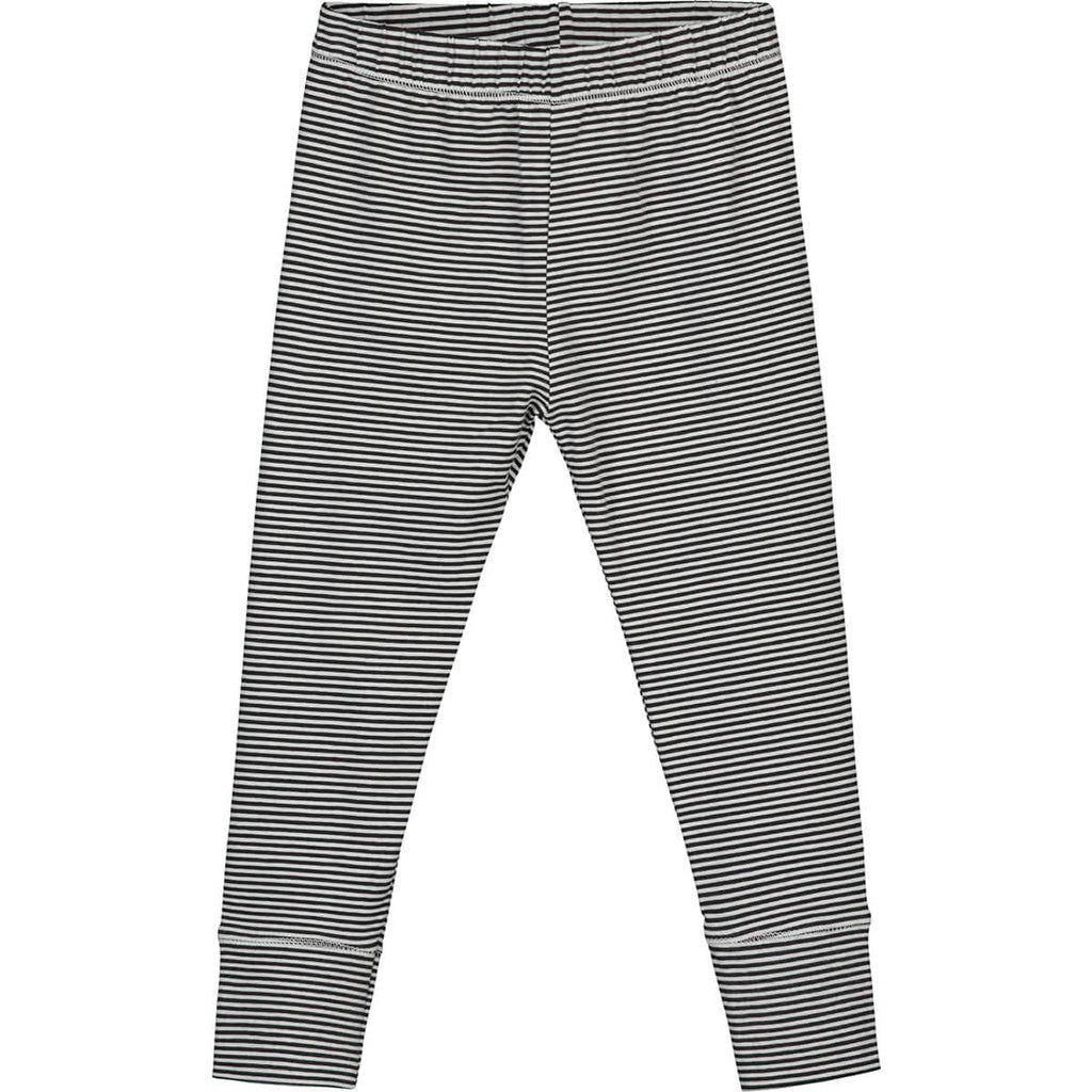 Striped Leggings in Nearly Black by Gray Label - Junior Edition