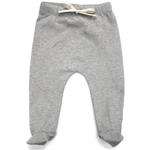 Baby Footies in Grey Melange by Gray Label - Junior Edition