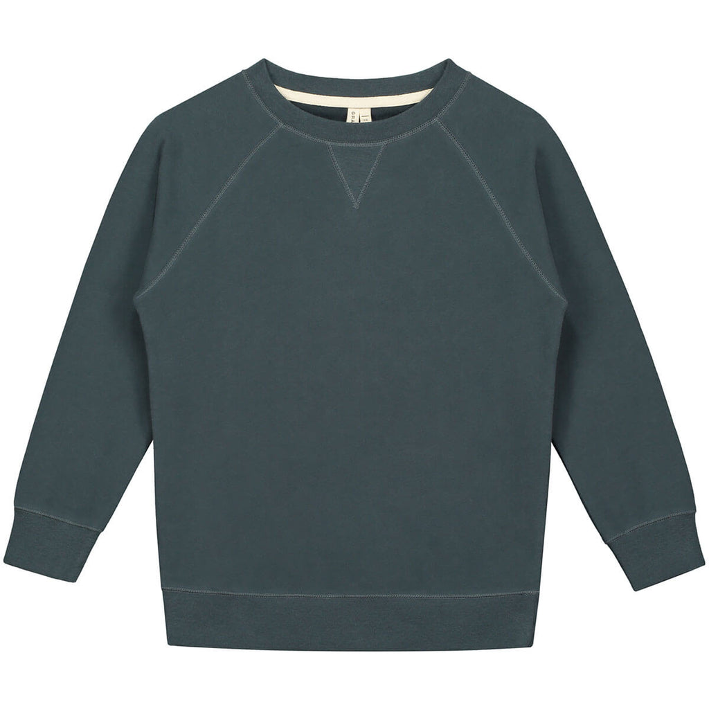 Crew Neck Sweater in Blue Grey by Gray Label - Junior Edition