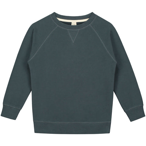 Crew Neck Sweater in Blue Grey by Gray Label