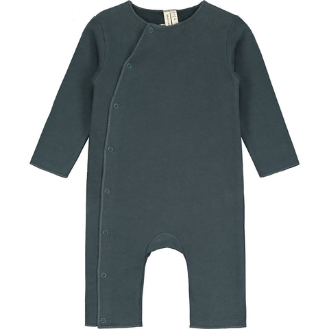 Baby Suit With Snaps in Blue Grey by Gray Label