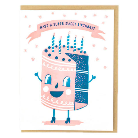 Sweet Cakes Greetings Card by Hello! Lucky - Junior Edition