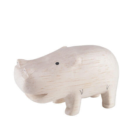 Hippopotamus - Polepole Wooden Animal by T-Lab - Junior Edition  - 1