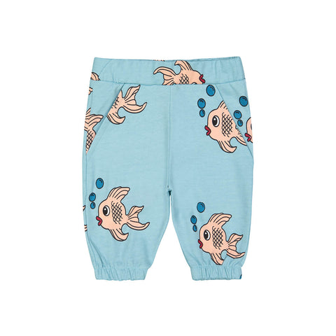 Fish Knee Sweat Shorts in Blue by Hugo Loves Tiki
